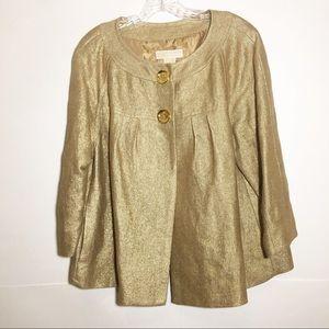MICHAEL Michael kors  cape style jacket gold tone